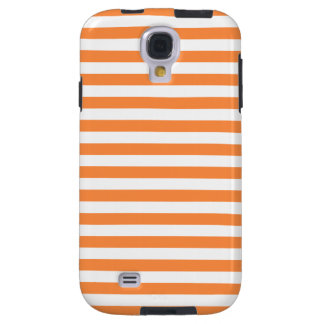 Orange and White Stripe Pattern Galaxy S4 Case