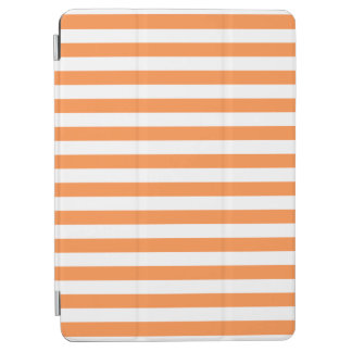 Orange and White Stripe Pattern iPad Air Cover
