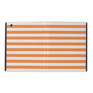 Orange and White Stripe Pattern iPad Cover