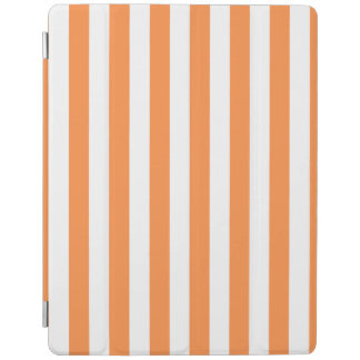 Orange and White Stripe Pattern iPad Cover