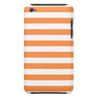 Orange and White Stripe Pattern iPod Touch Cases