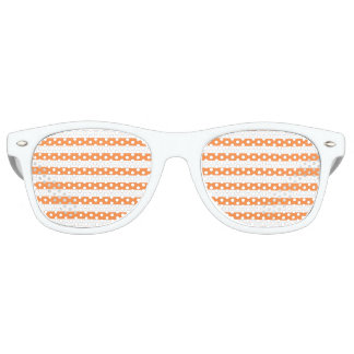 Orange and White Stripe Pattern Retro Sunglasses