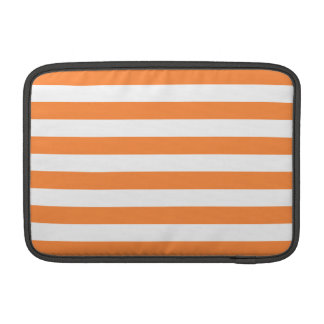 Orange and White Stripe Pattern Sleeve For MacBook Air