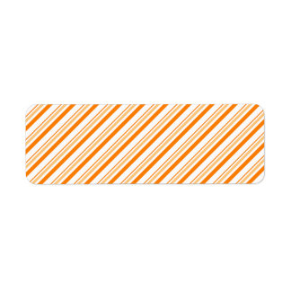 Orange and White Striped Return Address Label
