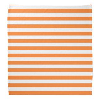 Orange and White Stripes Bandana