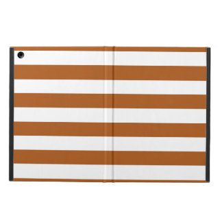 Orange and White Stripes Cover For iPad Air