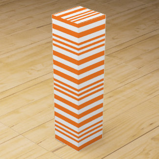 Orange and White Stripes X 3 Wine Gift Box