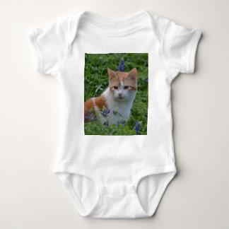 Orange and White Tabby Baby Bodysuit