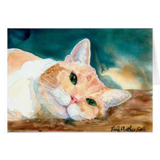Orange and White Tabby Greeting Card