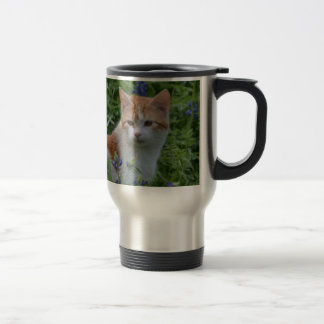 Orange and White Tabby Travel Mug