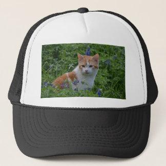 Orange and White Tabby Trucker Hat