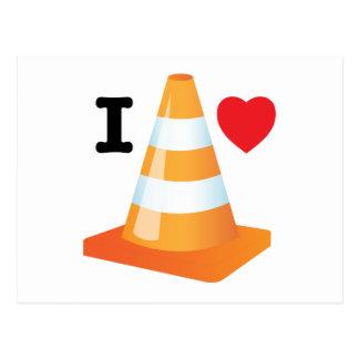 Orange and White Traffic Cones Postcard