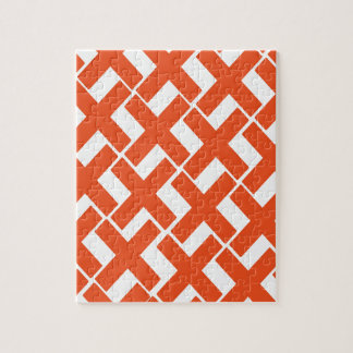 Orange and White Xs Puzzle