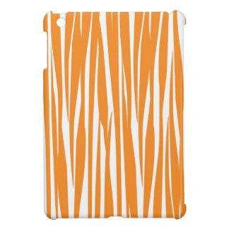 Orange And White Zebra Print iPad Mini Case