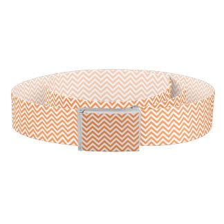 Orange and White Zigzag Stripes Chevron Pattern Belt
