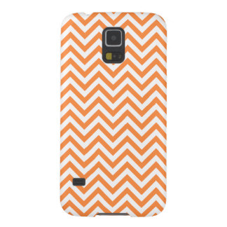 Orange and White Zigzag Stripes Chevron Pattern Cases For Galaxy S5