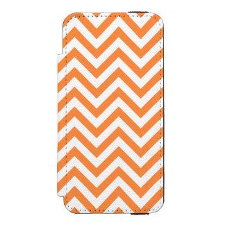 Orange and White Zigzag Stripes Chevron Pattern Incipio Watson™ iPhone 5 Wallet Case