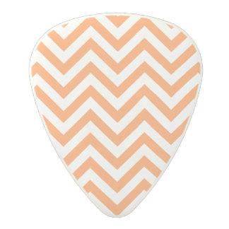 Orange and White Zigzag Stripes Chevron Pattern Polycarbonate Guitar Pick