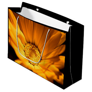 Orange and Yellow Beautiful Daisy Large Gift Bag
