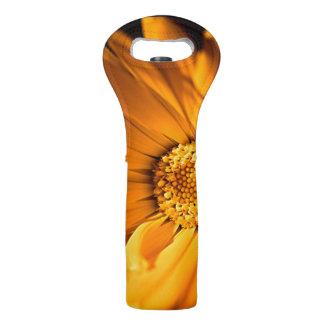 Orange and Yellow Daisy Wine Bag