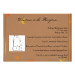 Orange and Yellow Fall Leaves Wedding Directions Personalized Announcement