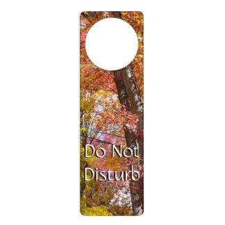 Orange and Yellow Fall Trees Autumn Photography Door Hanger