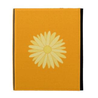 Orange and Yellow Floral Design. iPad Cases