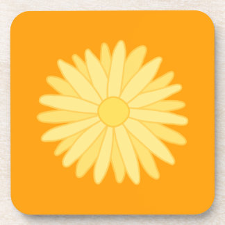 Orange and Yellow Floral Design. Coasters