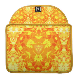 orange and yellow geometric floral MacBook pro sleeves