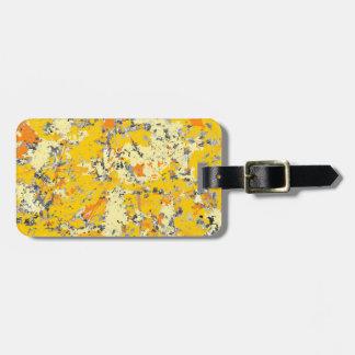Orange and Yellow Grunge Customizable Luggage Tag