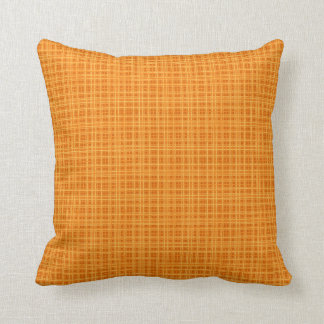 Orange and Yellow Plaid Throw Pillow