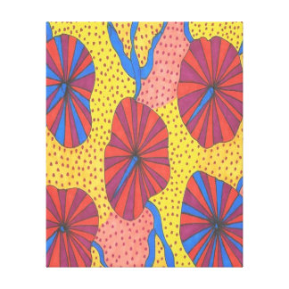 Orange and Yellow Retro Funk Abstract Art Prints