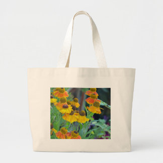 Orange and yellow rudbeckia flowers canvas bags