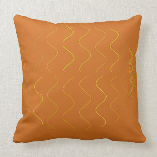 Orange and Yellow Squiggles PIllow