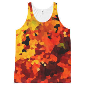 Orange and Yellow Sunflowers All-Over Print Singlet