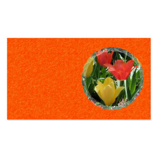 Orange and Yellow Tulips Business Card