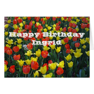 Orange and Yellow Tulips Card