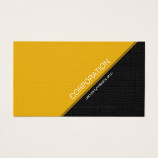 Orange angled text modern business card
