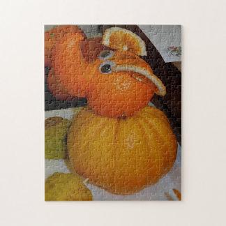 Orange Animal Sculpture Puzzle