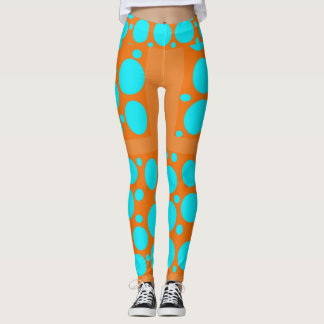 Orange & Aqua Leggings