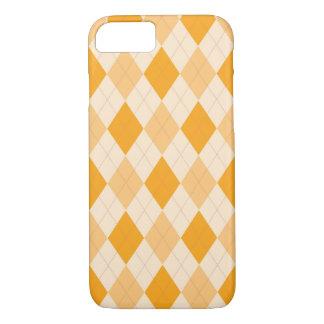 Orange argyle pattern case
