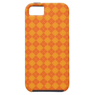 Orange argyle pattern iPhone 5 case