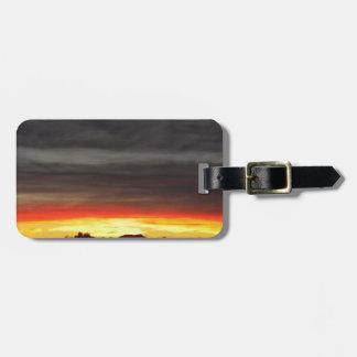 Orange Arizona Sunset Tags For Luggage