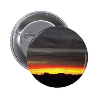 Orange Arizona Sunset Pinback Buttons