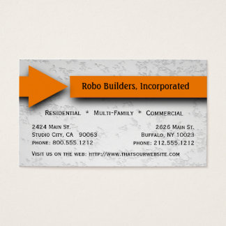 Orange Arrow Construction Business Card