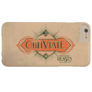 Orange Art Deco Obliviate Spell Graphic Barely There iPhone 6 Plus Case