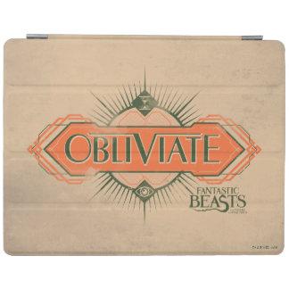 Orange Art Deco Obliviate Spell Graphic iPad Cover