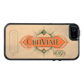 Orange Art Deco Obliviate Spell Graphic OtterBox iPhone 5/5s/SE Case