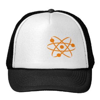 Orange Atom Mesh Hat