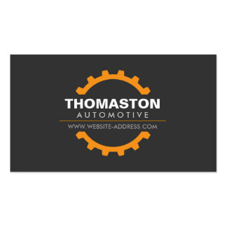 Orange Automotive Gear Auto Repair, Mechanic Pack Of Standard Business Cards